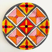 Phillip Maberry Rare Hand Painted Contemporary Art Pottery Large Ceramic Platter