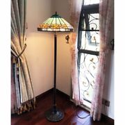 Style Mission Stained Glass Floor Lamp 61 T Dark Bronze Base 18 Shade