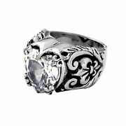 Cz Heart Ring King Baby Studio Jewelry .925 Silver Rare Discontinued Size 9.5