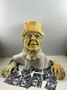 Vintage Professional Latex Prop Mask With Hands Haunted Mansion Ghost Don Post