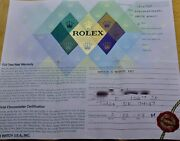 Rolex Mens Datejust 16200 Watch Warranty Paper F Serial Filled Very Clean