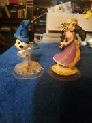 Disney Infinity 2.0 Crystal Sorcerer Mickey And 1.0 Rapunzel Figures Character Lot