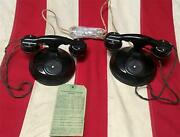Vintage 1920s Real Phone American Electric Co.common Battery Desk Telephone Pair