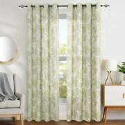 Classic Traditional Green Jacobean Floral Scroll Curtains Panels Drapes Set 95