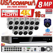 Hikvision Ip 16 Channel Security System / Hdd Included / Poe Turret 4mp H265+