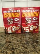 2 Boxes Of Mvp Patrick Mahomes Hyvee Crunch Cereal Unopened