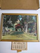 Advertising Calendar Mowrey Puroil Service Station Spring City Pa 1948