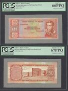Bolivia Obverse And Reverse 50 Pesos 13-7-1962 Essay Unissued Proof Uncirculated