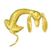 New Real Solid 14k Gold Skinny Dachshund Charm Pendant