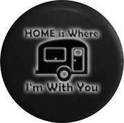 Spare Tire Cover Home With Camper Glowing Off Road Rv Accessories