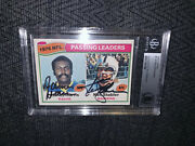 Ken Stabler And James Harris Signed 1977 Topps 1 Bas Beckett Authenticated Card