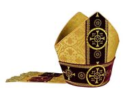 Gold/red Mitre Vestment Dand039or/rouge Mitra Dorada/roja Rot Oro/rossa M579agc16
