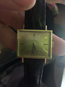 Omega 18k Gold Rectangle Style Dress Watch Vintage 1960and039s