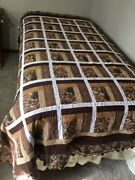 Reducedhandmade Quilt Qn Size 67 X 86 Christmas In The Smokies Log Cabin