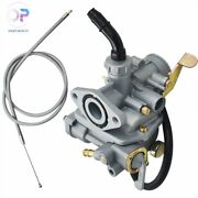 Carburetor W/ Throttle Cable For Honda Ct70h Trail Ct 70 Carb -new-