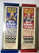 Lot Of 2 Brain Quest Be A Know-it-all English And Us History . 4th-6th Grade.