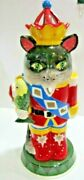 Blue Sky Claywork Heather Goldminc Tall Cat Nutcracker Toy Soldier Candle Holder