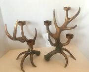 Katherine's Collection Reindeer Antler Candle Tealight Holders New 23-923543