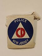 Wwii Civil Defense New Jersey Police Armband Excellent Condition Rare