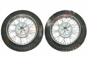 2 Complete Front Rear 16 36 Holes Wheel Rim With Tyre Tube For Jawa Ecs