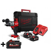 Milwaukee M18 Fpd2 502x Drill Percussion Screwdriver 18v +3 Battery 5.5ah