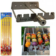 Rotisserie Kit For Gas Burner Grill With Motor Operated Rotator Stainless Steel
