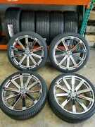 4 Wheels And Tires 22 Inch Velocity Vw12 Chrome Rims Dodge Charger Challenger 300