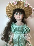 """23"""" Antique Porcelain French Fashion Jumeau Reproduction Doll Shirley's Dolls B"""