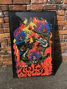 Vintage Jimmy Hendrix And The Experience Black Light Poster Amazing Experienced