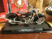 Scarce 1/10th Scale 1948 Indian Chief 348 Black Guiloy Motorcycle In Box N Mint