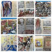 Keith Mayerson Signed 2003 Andldquothe All-seeing Eyeandrdquo Mixed-media Collages In Book