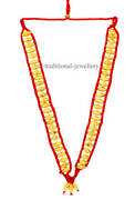 22k Yellow Gold Dholaki Bead Set Necklace Indian Tribal Belly Dance Jewelry