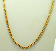 Authentic 22k 22ct Yellow Gold Vintage Rolo And Open Bar Link Chain Wedding Gift