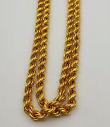 Authentic Vintage Solid 22 K Gold Flexible Chain Necklaces From Rajasthan India
