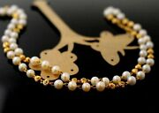 Pearl Chain Yellow Gold 22k Elegant Pearl Designer Chain With Length 20 Inch