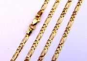 20 Inches 22 K Yellow Gold Figaro Chain Linked Chain Motherand039s Day Gifting Ideas