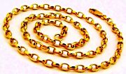Authentic 22 K Gold Belcher Link Chain Best Womenand039s Jewelry For Mothers Day