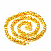 22k Yellow Gold Ball Beads Chain Ladies Girls Necklace Unique Stylish Chain