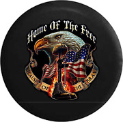 Spare Tire Cover Home Free Brave Military Rifle Flag Eagle Jk Accessories