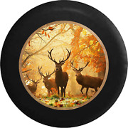 Spare Tire Cover Family Of Deer In The Autumn Woods Hunting Jk Accessories