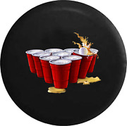 Spare Tire Cover Beer Pong Red Cups College Summer Party Jk Accessories