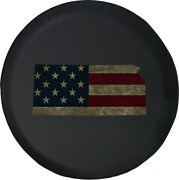 Spare Tire Cover Kansas - Distressed American Flag Jk Accessories