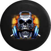 Spare Tire Cover Skull Barbell Weightlifting Barbell Workout Gym Jk Accessories