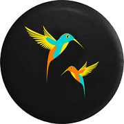 Spare Tire Cover Hummingbirds Teal Turquoise Orange Yellow Pair Jk Accessories
