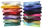 1000 Tc Egyptian Cotton 6 - Pic Premium Bed Sheet Set Solid All Colors And Sizes