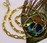 22k Yellow Gold Handmade 20 Inch Stylish Link Chain Necklace Unisex Gifts Ch178