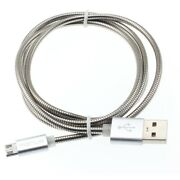 Charger Cord 3ft Metal Usb Cable Power Wire Microusb Sync Fast For Att And Verizon