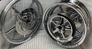 Harley Softail Rocker Chrome 2008 -11 Wheel Pulley Rotors Made Italy Exchange