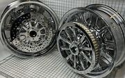 Indian Chieftain Chrome Wheels Pulley Rotors Oem 2014 -20 Mag Rims Exchange