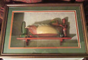 1992 Ducks Unlimited Shadow Box Display Of Model Of A Green-winged Teal Decoy.